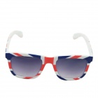 OUMILY UK Flag Pattern PC Lens UV400 Protection Sunglasses - Multi-Colored + Grey
