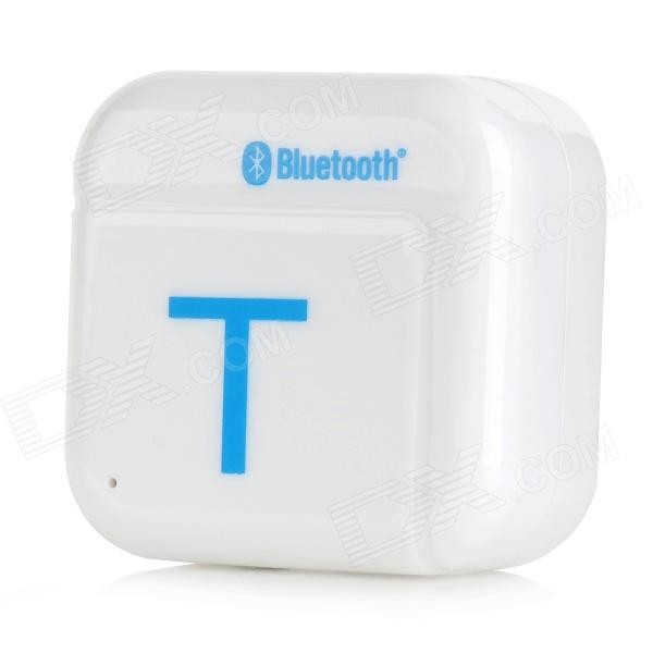 H-266T Bluetooth V4.0 Music Audio Receiver Adapter for IPHONE / IPAD / IPOD - White