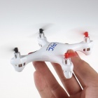 JJ1000B Mini 2.4GHz 4-CH Radio Control Outdoor Quadcopter Toy w/ Gyro - White (4 x AA)