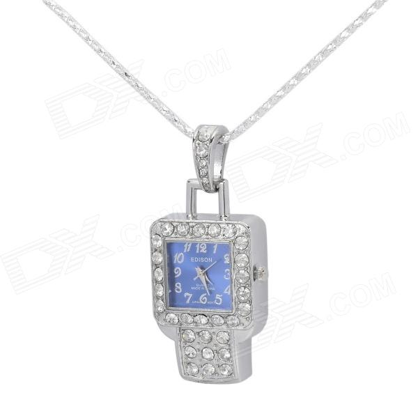 Rhinestone Inlaid Watch Style USB 2.0 Flash Drive - Silver + Cobalt Blue (8 GB / 1 x SR626SW) palm style usb flash drive blue 8gb