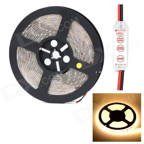 HML Waterproof 72W 5000lm 3300K 300 x SMD 5630 LED Warm White Light Strip w/ HML Mini Controller цена