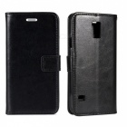 Angibabe Cow Split Leather Case with Card Slot for Samsung Galaxy S5 - Black + Dark Brown