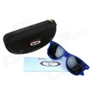 OUMILY Universal PC Lens Sunglasses - Blue Frame + Black