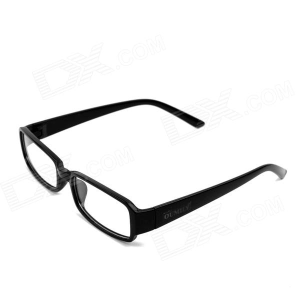 OUMILY Fashionable Optical Plastic Lens Eyeglasses - Black + Transparent doumoo 330 330 mm long focal length 2000 mm fresnel lens for solar energy collection plastic optical fresnel lens pmma material