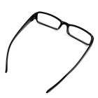 OUMILY Fashionable Optical Plastic Lens Eyeglasses - Black + Transparent
