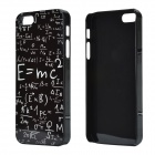 Albert Einstein Mass-energy Equation Pattern Aluminum Alloy Back Case for IPHONE 5 / 5S - Black
