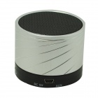 S10 Bluetooth V3.0 2-Channel 3W Speaker w/ Handsfree / TF Card Slot - Silver