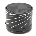 S10 Bluetooth V3.0 2-Channel 3W Speaker w/ Handsfree / TF Card Slot - Black