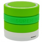 Bluetooth V2.1 2.1-Channel Super Bass Speaker w/ TF / FM Radio / Mic - Green