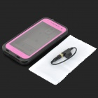 Protective PVC Waterproof Dustproof Drop Resistance Case for Samsung S4 i9500 - Black + Deep Pink