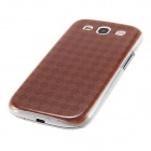 Kinston Dark Red Grids Pattern Plastic Protective Hard Back Case Cover for Samsung Galaxy S3 i9300
