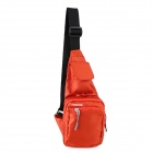HONGYS Waterproof  Nylon Casual Outdoor Hiking Unisex Shoulder Messenger Bag - Orange