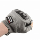 OUMILY Outdoor Tactical Half-Finger Gloves - Gray(Size M / Pair)