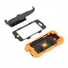 Protective Plastic + Silicone Back Case w/ Stand for IPHONE 5C - Orange + Black