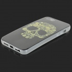 Skull Pattern ProtectiveTPU Back Case for IPHONE 5 / 5S - White + Black + Yellow