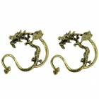 Chinese Dragon Shaped Alloy Earring  - Copper (Pair)