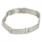 Shiying XLX000055 Men's Cool 316L Stainless Steel Chain Bracelet - Silver