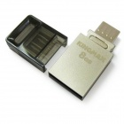KINGMAX PJ-02 USB 2.0 Flash Drive + OTG - Silver (8GB)