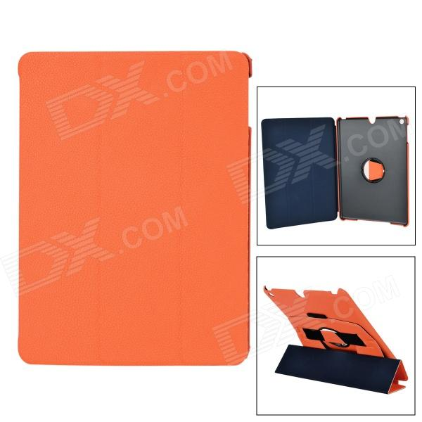 все цены на Protective Flip Open PU Leather + PC Case w/ Stand / Hand Strap for IPAD AIR - Black + Orange онлайн