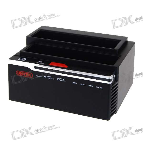Unitek Y-2041 USB 2.0/eSATA Dual SATA HDD Docking Station with Clone Function