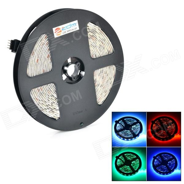 ZDM 72W 400lm 300-5050 SMD LED RGB Light Strip - White (DC 12V / 5m) zdm 5m 300 leds strip light with remote control