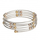 Stylish 316L Stainless Steel Mini Beads Bracelet for Women - Silver+ Gold + Multi-Colored