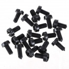 ZnDiy-BRY R205-304 M3 x 4 Nylon Screws for Multicopter Flight - Black (20 PCS)
