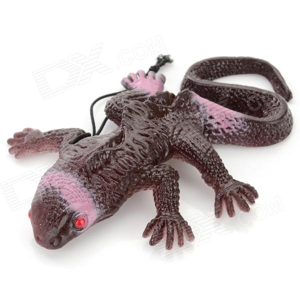 XYWJ004 Lifelike Rubber Lizard Joke Toy for Children - Rufous nematode parasite infesting lizard and their physiological effects