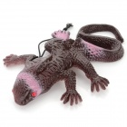 XYWJ004 Lifelike Rubber Lizard Joke Toy for Children - Rufous