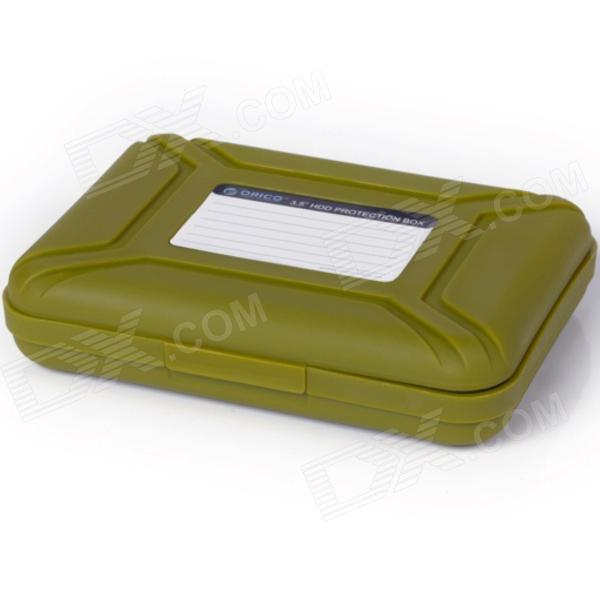 ORICO PHX-35 3.5 '' HDD Protection Box Hard Disk Drive Protecter Case - Olive Green orico phx 35 3 5 hdd protection box hard disk drive protecter case purpled