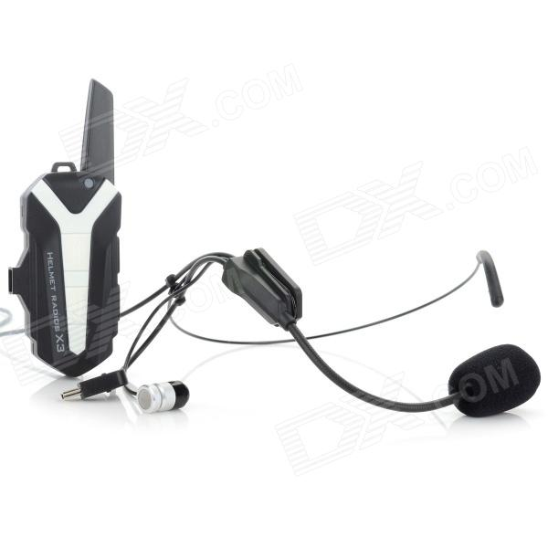 Genun T3 Mini 16-CH Helmet Mounted Speaker + Microphone Walkie Talkie System for Motorcycle - White - DXWalkie Talkies<br>The smallest interphone in the world which weighs only 53g and is only 19mm thick; Class 3.9 adjustable voice control; easy to install and convenient to use; perfect for cycling and riding.<br>
