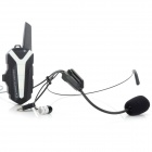Genun T3 Mini 16-CH Helmet Mounted Speaker + Microphone Walkie Talkie System for Motorcycle - White