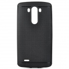 Protective Mesh Hole TPU Back Case for LG G3 - Black
