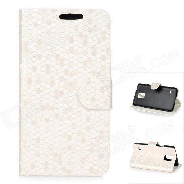 Protective Flip Open PU Case w/ Stand / Card Slots for Samsung S5 - White + Black protective flip open pu case w stand card slots strap for samsung galaxy note 3 n9000 white