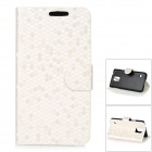 Protective Flip Open PU Case w/ Stand / Card Slots for Samsung S5 - White + Black