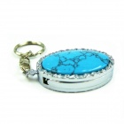 IDOMAX Turquoise Stone USB 2.0 Flash Pen Thumb Drive Stick - Turquoise Blue + Silver (8GB)