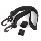 EDC 664 Universal Outdoor Dual Rotating Clasp Nylon Shoulder Strap for Backpack - Black