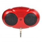 Big Eye Style PP 1W 3.5mm Jack Plug Speaker - Red (2 x AAA)