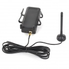 WANSUNTONE Self-adhesive Car Mounted WCDMA Cell Phone Signal Booster w/ Holder + Car Charger - Black