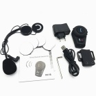 Bluetooth V2.1 Walkie Talkie / Intercom Headset w/ Speaker / Mic. for Motorcycle Helmet - Black