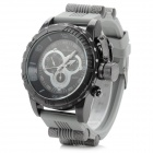 V6 V0205 Men's Sports Analog Quartz Wrist Watch w/ Silicone Band - Black + Grey (1 x 626)