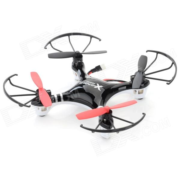 Fly Force H107R Mini 4-CH Indoor R/C Quadcopter w/ Gyro - Black + Red (4 x AA)