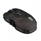 K8-HEISE klassische 9-Key 2.4GHz Wireless Optical Gaming Mouse w / Bunte LED-Licht - Schwarz (2 x AAA)