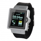 "Iradish i6 Dual-core Android 4.0 GSM Watch Phone w/ 1.54"" Screen, Quad-band, Wi-Fi - Silver + Black"