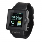 "Iradish i6 Dual-core Android 4.0 GSM Watch Phone w/ 1.54"" Screen, Quad-band, Wi-Fi - Black"