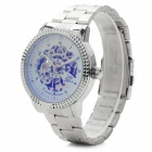 Shenhua B9419 Men's Skeleton Stainless Steel Band Analog Mechanical Wristwatch - Silver (1000PCS)