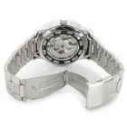 Shenhua Men's Fashionable Skeleton Stainless Steel Band Analog Mechanical Wrist Watch - Silver