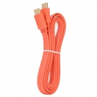 1080P HDMI V1.4 Male to Male HD Flat Cable - Orange (1.5m)