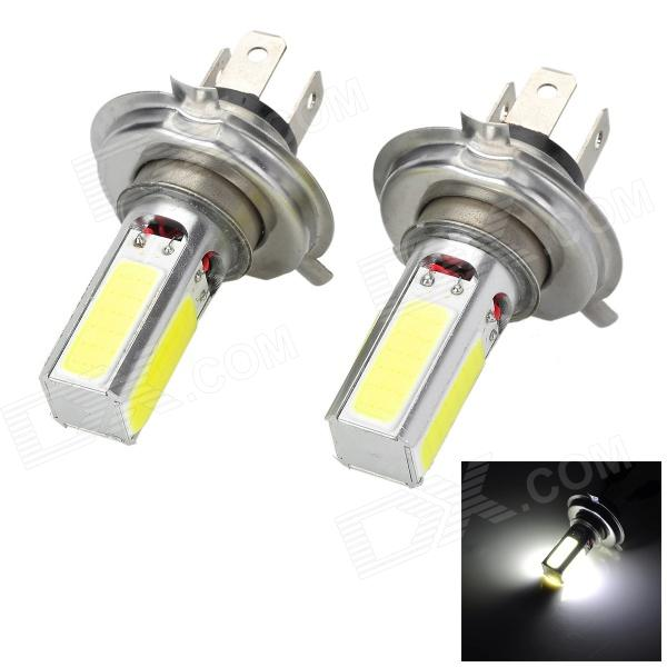 Marsing C-01 H4 20W 1500lm 4-COB LED White Light Car Headlamp / Foglight - (12V / 2 PCS) highlight h3 12w 600lm 4 smd 7060 led white light car headlamp foglight dc 12v