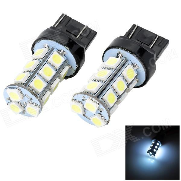 Marsing T20 5W 400lm 18 x SMD 5050 LED White Light Car Brake / Steering / Reverse Lamp (12V / 2 PCS) carprie super drop ship new 2 x canbus error free white t10 5 smd 5050 w5w 194 16 interior led bulbs mar713